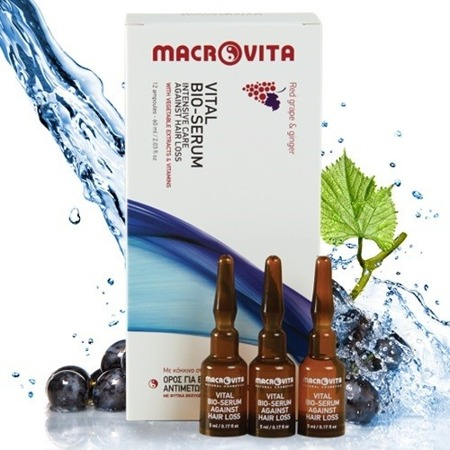 MACROVITA VITAL BIO-SERUM Against Hair Loss 60ml (12 ampoules)