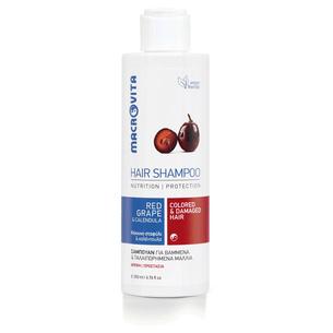 MACROVITA pflegende Shampoo für coloriertes Haar, spröde, mit geteilten Haartipps der Bio-Hafer und Bio-Rotweintrauben 200ml