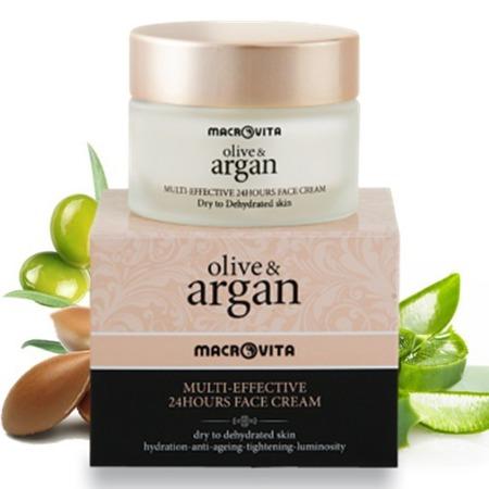 MACROVITA ARGAN & OLIVE MULTI-EFFEKTIV 24-Stunden-Creme für trockene oder dehydrierte Haut 50ml