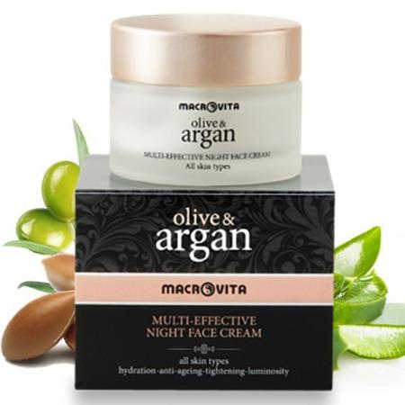 MACROVITA ARGAN & OLIVE MULTI-wirksame Nachtcreme für alle Hauttypen 50ml