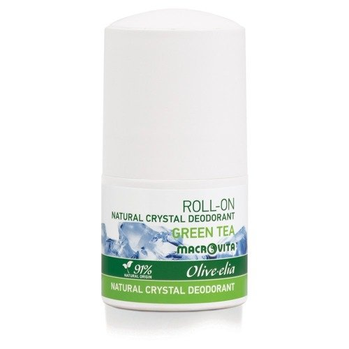 MACROVITA OLIVE-ELIA DEODORANT-ROLLER mit natürlichen Kristall GREEN TEA 50ml