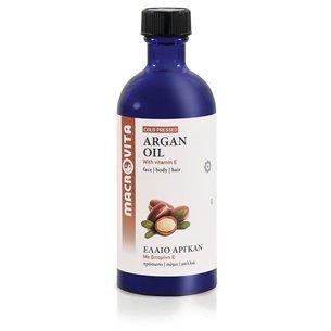 MACROVITA OLEJ ARGANOWY w naturalnych olejach tłoczony na zimno z witaminą E 100ml