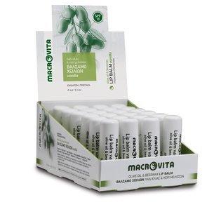 MACROVITA pomadka do ust z bio-składnikami SPF10 WANILIA 4g